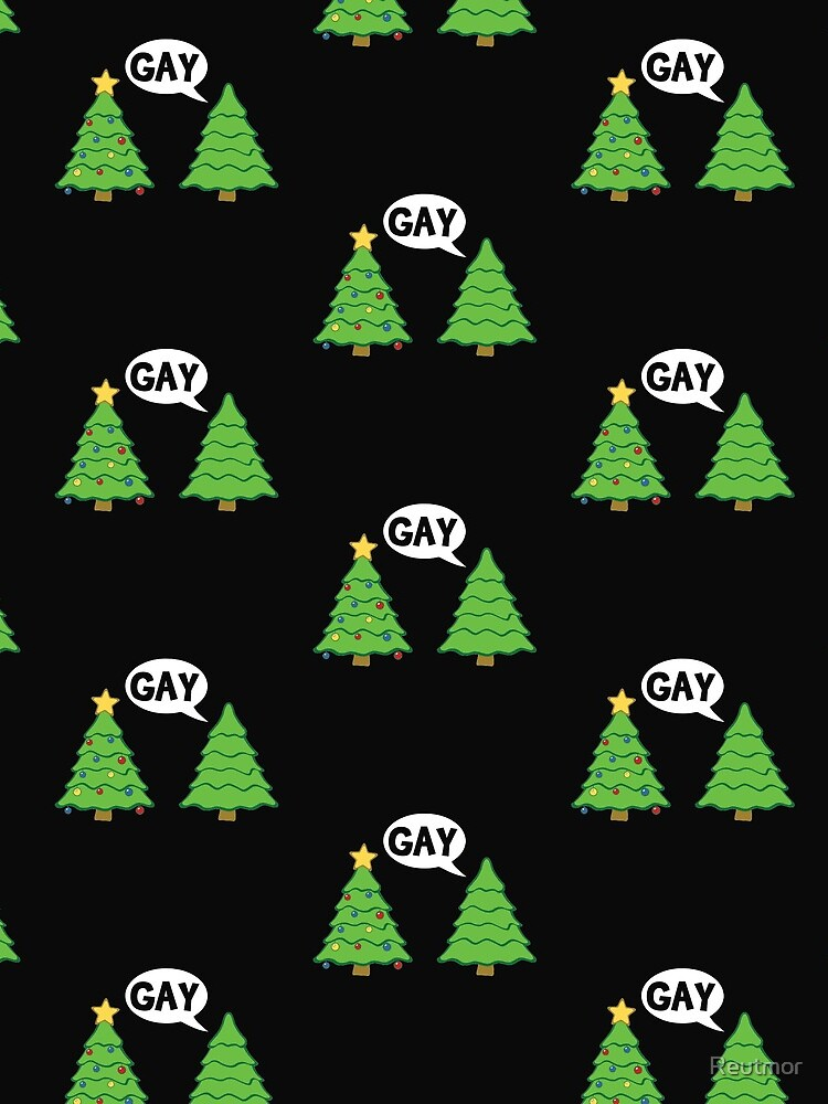 Gay Christmas Tree Funny Xmas Holiday by Reutmor