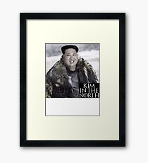 Kim in the North! Framed Print