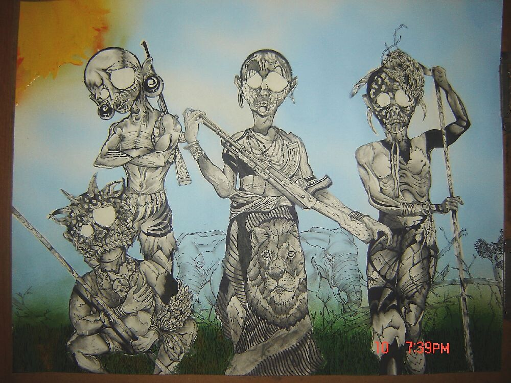 18x24 African Tribe by JeRMsDetail