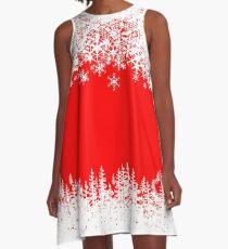 Christmas holiday Santa snowflakes A-Line Dress
