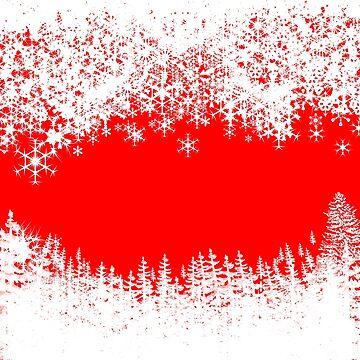 Christmas holiday Santa snowflakes by Kcreations