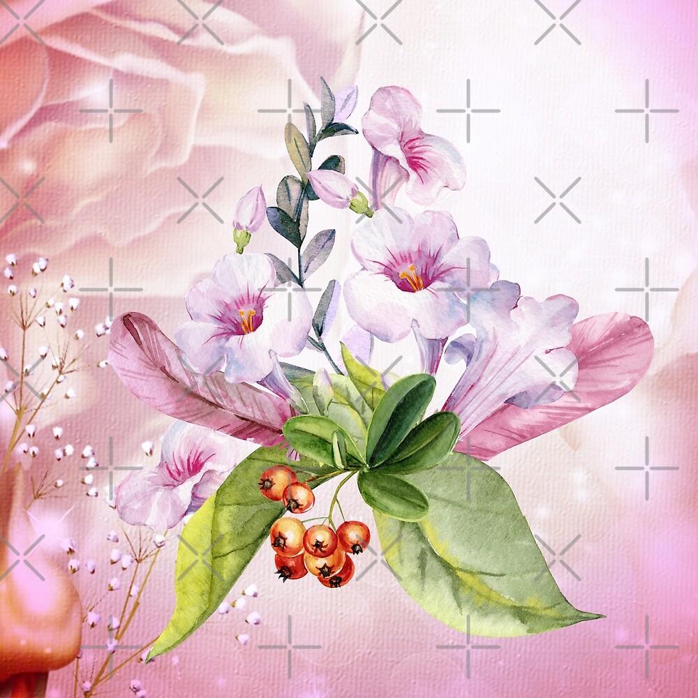 Wonderful flowers, watercolor by nicky2342
