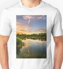 Early hours at Holmethorpe Lagoons Nature Reserve T-Shirt