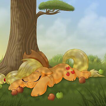 Sleeping Applejack by Shila