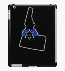 Idaho Deputy Sheriff T Shirt Thin Blue Line iPad Case/Skin