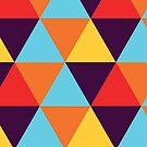 Multi-Coloured Hexagons #1 by BrandnerGraphic