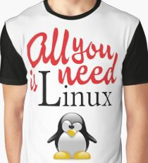 Geek Nerd - All you need is linux love Graphic T-Shirt