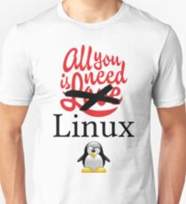 Geek Nerd - All you need is linux love Unisex T-Shirt