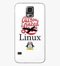 Geek Nerd - All you need is linux love Case/Skin for Samsung Galaxy