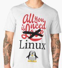 Geek Nerd - All you need is linux love Men's Premium T-Shirt