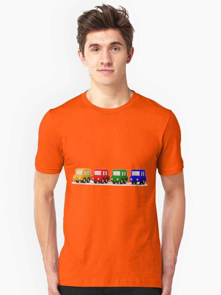 little cars - cartoon cars - colorful cars - little cars Unisex T-Shirt Front