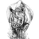 Black Rhino - Big 5 Series by pennies4eles