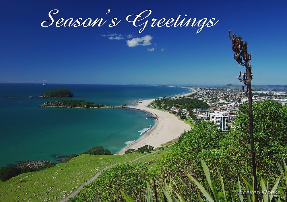 Mount Maunganui, Season's Greetings by Steven Weeks