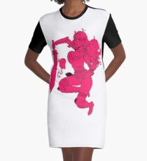 Lusty Attack - One colour Graphic T-Shirt Dress
