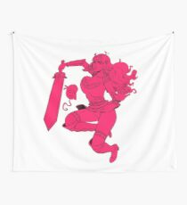 Lusty Attack - One colour Wall Tapestry