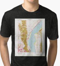 USGS TOPO Map Illinois IL Spring Bay 308772 1950 24000 Tri-blend T-Shirt