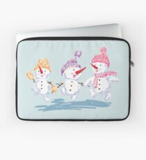 Merry Snowmen Laptop Sleeve