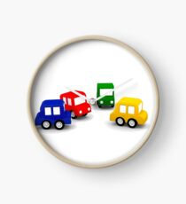 little cars - cartoon cars - colorful cars - little cars Clock