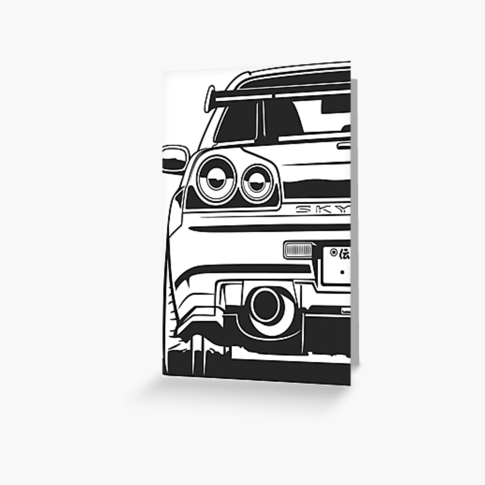 Skyline R34 GTR Greeting Card