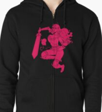 Lusty Attack - One colour Zipped Hoodie