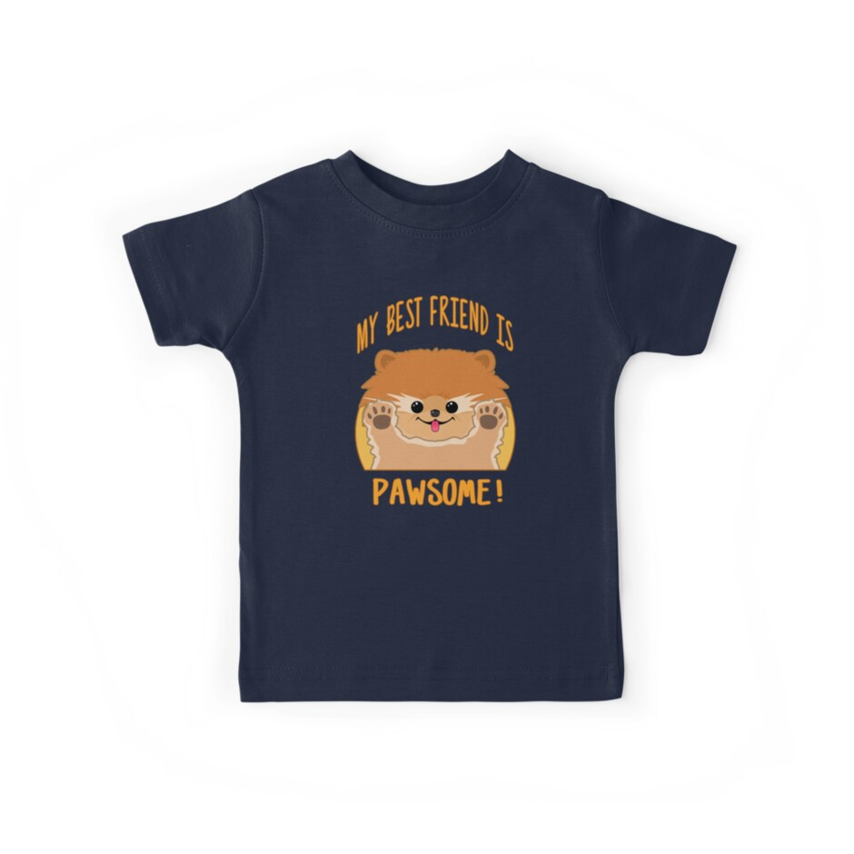 Cute Dog Shirt for Kids - My Best Friend is Pawsome by Inkbomb