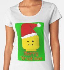 Merry Christmas Santa Minifig by Customize My Minifig Women's Premium T-Shirt