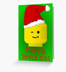 Merry Christmas Santa Minifig by Customize My Minifig Greeting Card