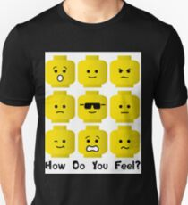 'How Do You Feel?' by Customize My Minifig  Unisex T-Shirt