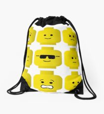 'How Do You Feel?' by Customize My Minifig  Drawstring Bag