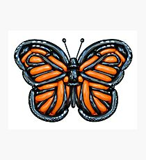 Twisted Monarch Butterfly  Photographic Print