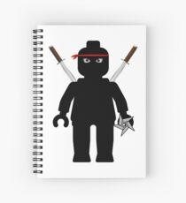Ninja Minifig / TMNT Foot Soldier Spiral Notebook
