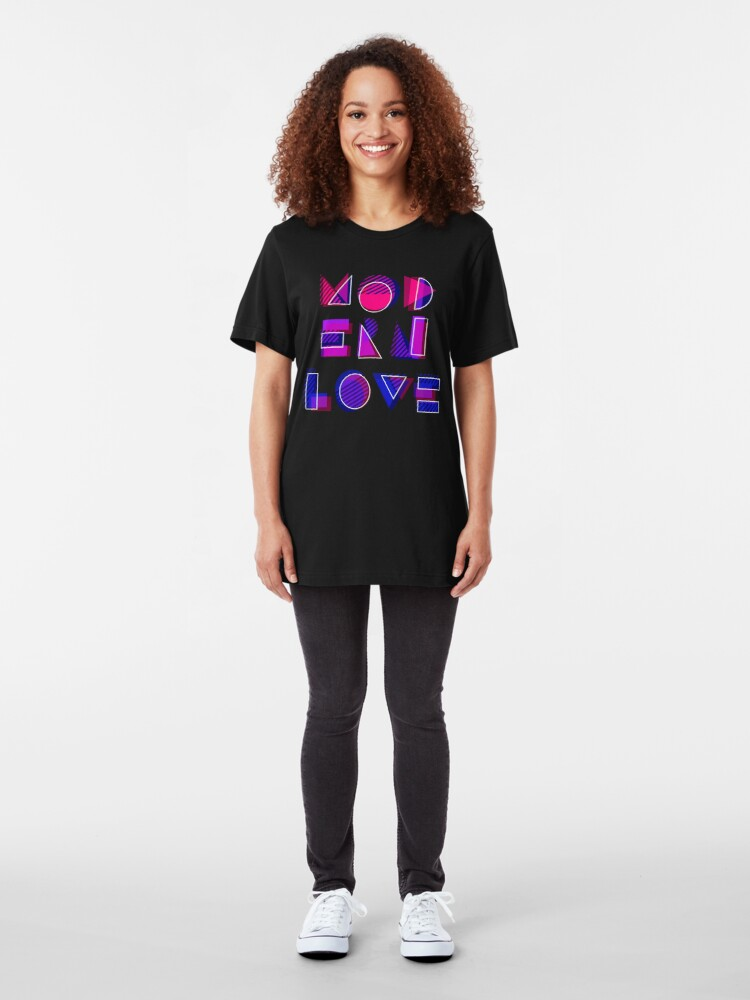 Alternate view of Modern Love (bonus) Slim Fit T-Shirt