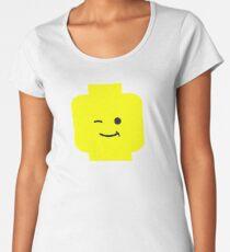 Minifig Winking Head  Women's Premium T-Shirt