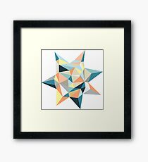 Geometric Sun Framed Print