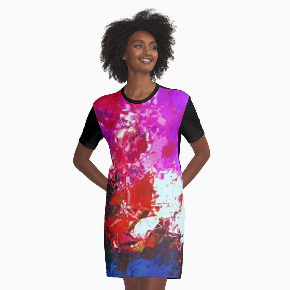 Sunset Over Forest  Graphic T-Shirt Dress Front