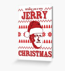 Wishing you a Jerry Christmas Corbyn Christmas card Greeting Card