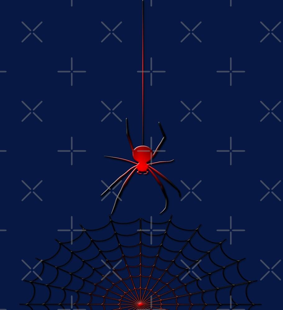 Hot spider in the dark by Giuseppe 23 Esposito