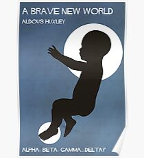 Brave New World by Huxley  Poster