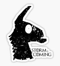 STORM IS COMING- black lines Sticker