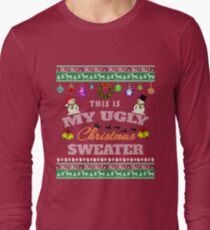 Funny Ugly Christmas Sweater with Dilly Dilly Trim T Shirt T-Shirt