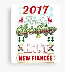 First Christmas With Hot New Fiancee Engaged Couple Canvas Print