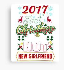 First Christmas With Hot New Girlfriend Matching Couple Canvas Print
