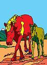 Horse Family  by Juhan Rodrik
