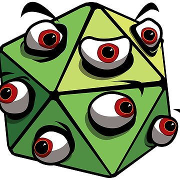 D20 Angry Eye-Guy by GrimsD20s