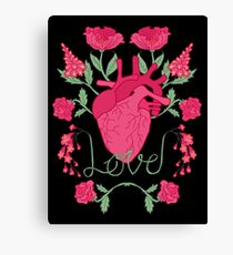 Anatomical Love Canvas Print