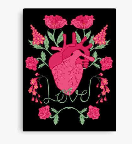 Anatomical Love Canvas Print