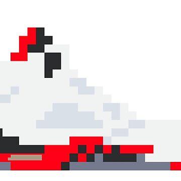 8-bit Jordan 5s by soujohn