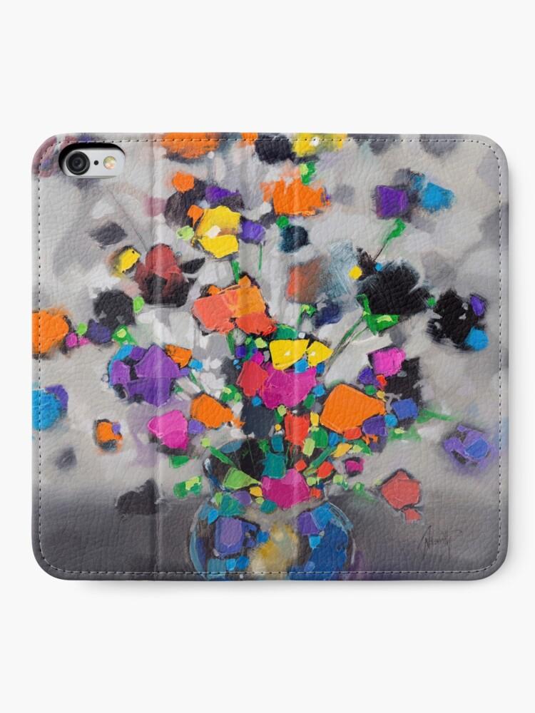 Alternate view of Floral Spectrum 1 iPhone Wallet