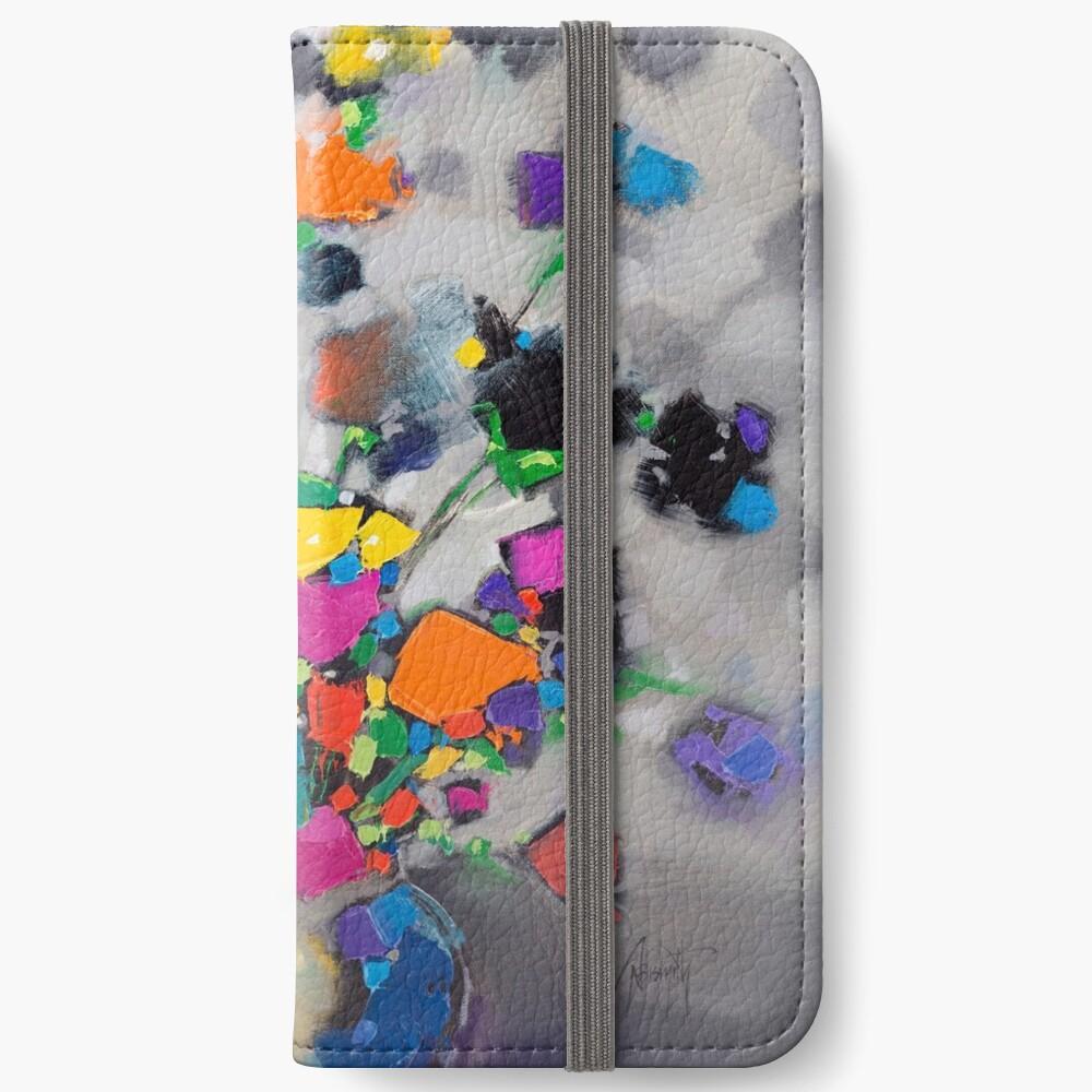 Floral Spectrum 1 iPhone Wallet
