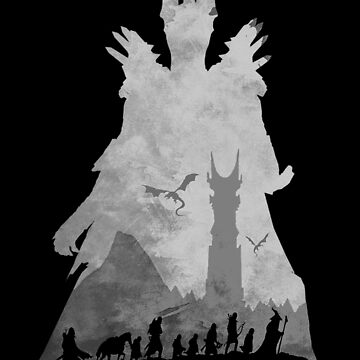 Sauron & The Fellowship by -Shiron-